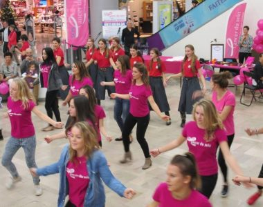 Flash mob cancer du sein